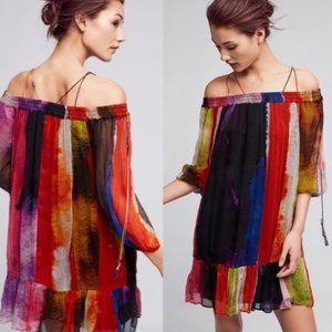 *NWT* Anthropologie Zora off the Shoulder Dress M